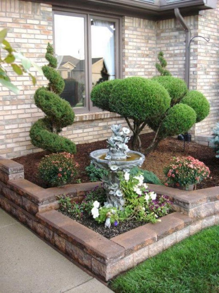 32 Creative Home Front Landscape Design Ideas: Amazing 20+ Simple And Beautiful Front Yard Landscaping On A Budget