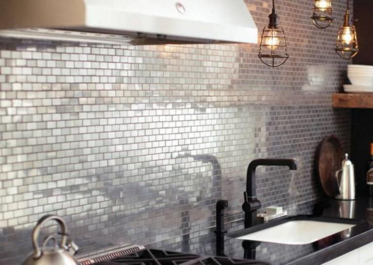 13 Best Metallic Tile Backsplash Ideas For Awesome Kitchen